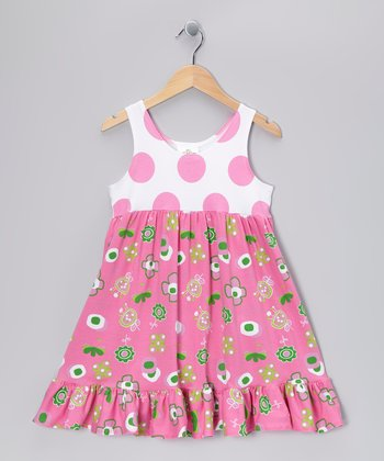 Hot Pink Summertime Babydoll Dress - Infant & Girls