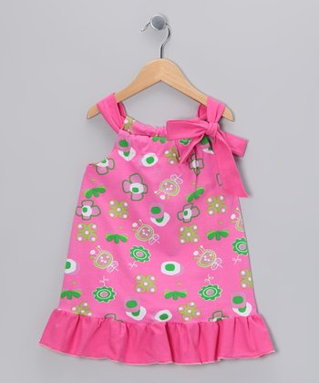 Hot Pink Summertime Swing Tunic - Toddler & Girls