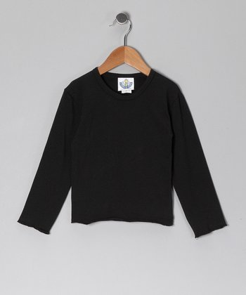 Black Long-Sleeve Tee - Infant, Toddler & Girls