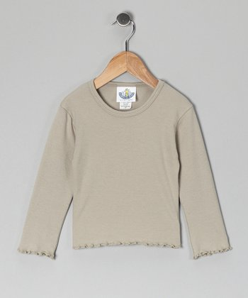 Taupe Long-Sleeve Tee - Infant, Toddler & Girls