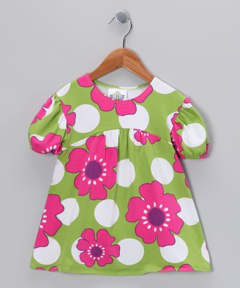 Green Pop Art Tunic - Girls