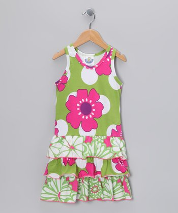 Green Pop Art Racerback Dress - Infant