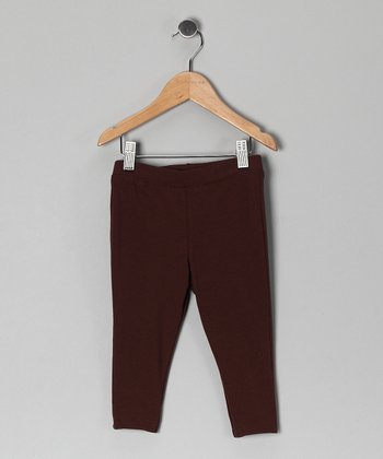 Brown Capri Leggings - Infant, Toddler & Girls