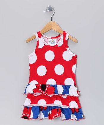 Red Polka Dot Pop Art Drop-Waist Dress
