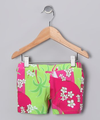 Pink Flamingo Deco Bike Shorts - Infant, Toddler & Girls