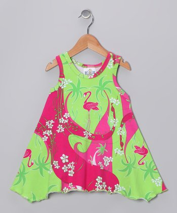 Pink Flamingo Deco Handkerchief Top - Infant & Girls