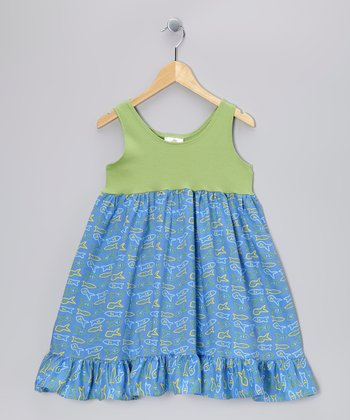 Blue Fish Babydoll Dress - Toddler & Girls