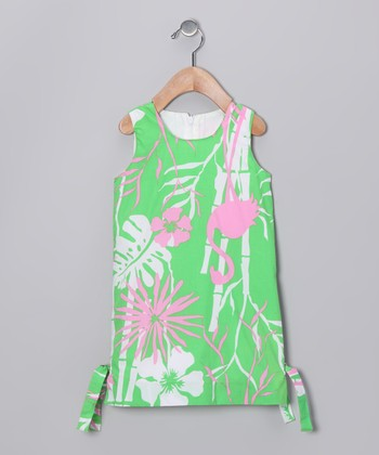 Kiwi Flamingo Shift Dress - Infant