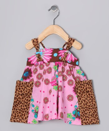 Brown Leopard Pocket Jumper - Infant & Girls