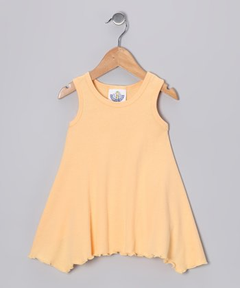 Peach Handkerchief Top - Girls