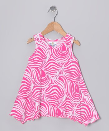 Pink Zebra Handkerchief Top - Infant