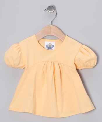 Peach Babydoll Top - Toddler & Girls