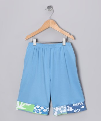 Blue Aloha Everyday Shorts - Boys