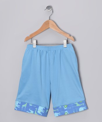 Blue Safari Everyday Shorts - Boys
