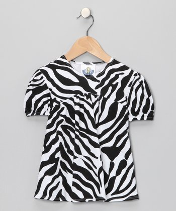 Black Zebra Tunic - Toddler & Girls