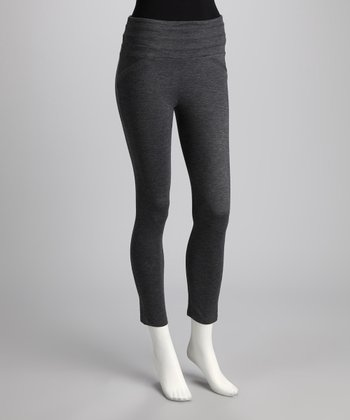Gray High-Waist Leggings