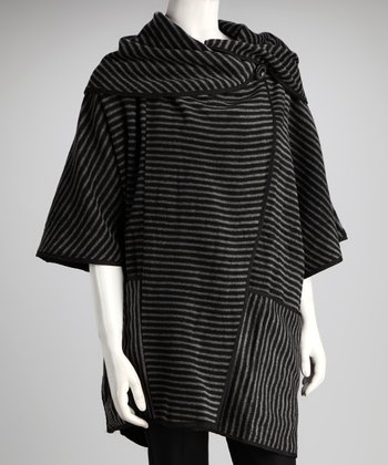Black Stripe Shawl