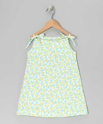 Blue Floral Swing Dress - Toddler & Girls