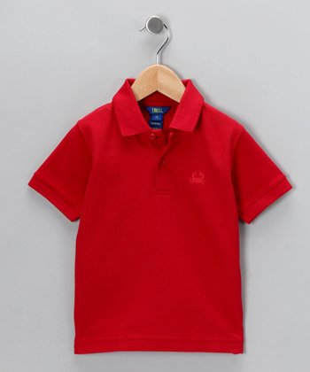 Red Short-Sleeve Polo - Toddler & Boys