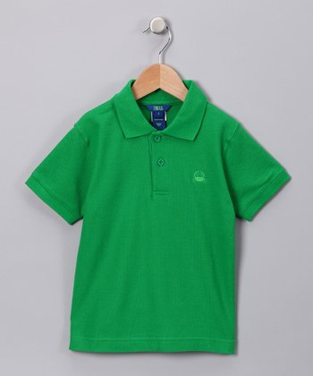 Green Polo - Toddler & Boys