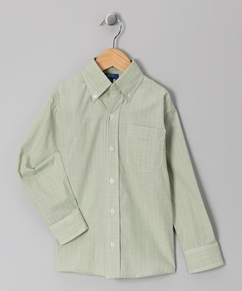 Sage Plaid Button-Up - Toddler & Boys