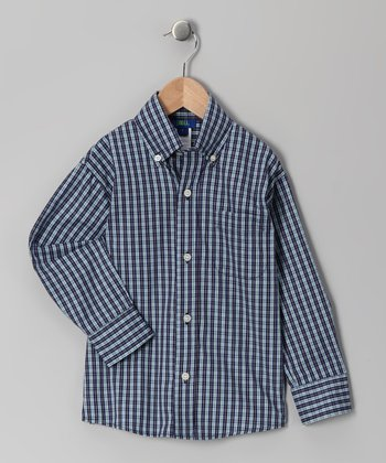 Navy Santiago Button-Up - Boys