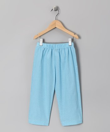Turquoise Gingham Pants - Infant