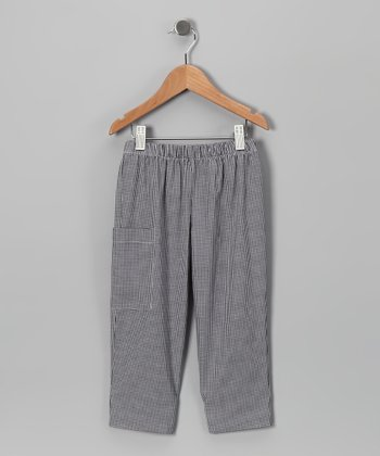 Black Gingham Pants - Infant & Boys