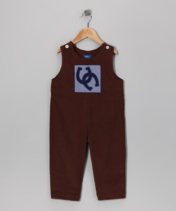 Brown Horseshoe Corduroy Overalls - Infant & Toddler