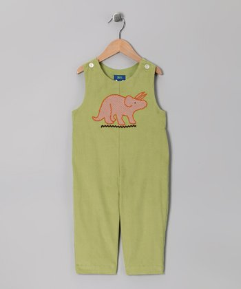 Lime Dinosaur Overalls - Toddler