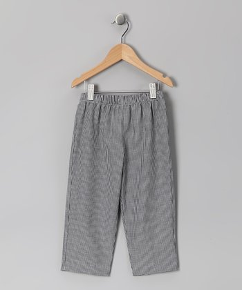 Black Gingham Pants - Infant