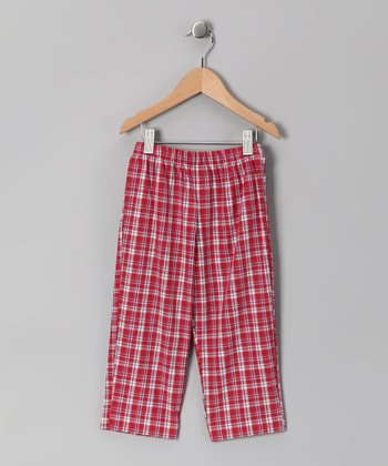 Dark Red Plaid Pants - Infant, Toddler & Boys