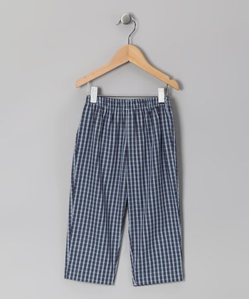 Blue Plaid Pants - Infant
