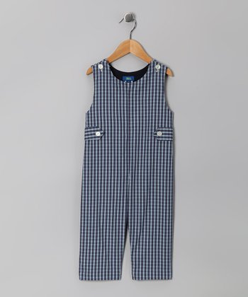 Blue Plaid Overalls - Infant & Toddler