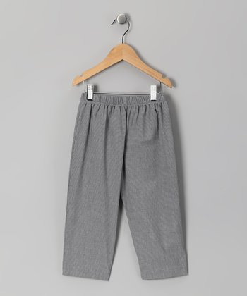 Black Micro-Gingham Pants - Infant