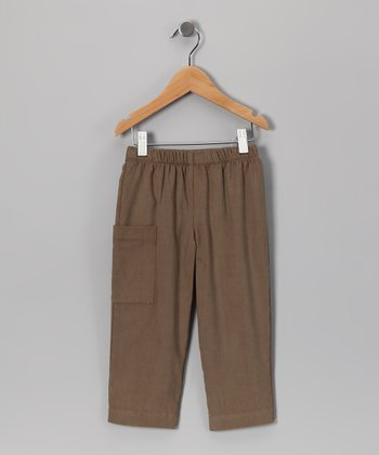 Brown Corduroy Pants - Boys