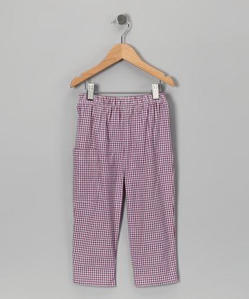 Purple Gingham Pants - Infant & Boys