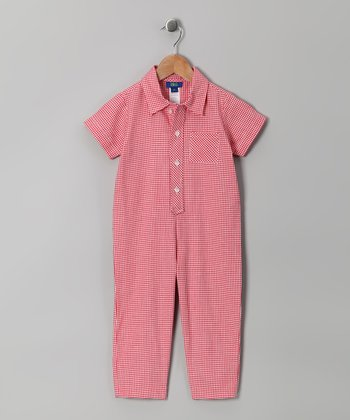 Red Gingham Playsuit - Toddler