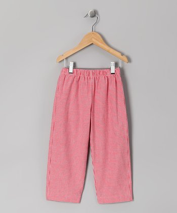 Red Gingham Pants - Infant
