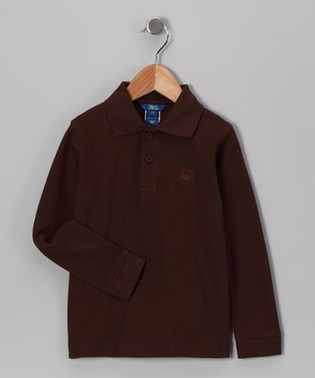 Brown Polo - Infant, Toddler & Boys