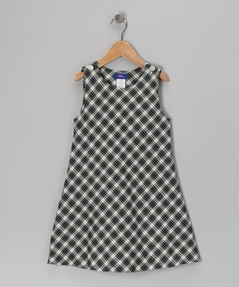 Navy Plaid Jumper - Infant & Girls