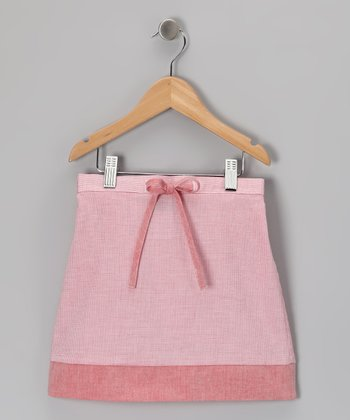 Salmon Drawstring Skirt - Girls