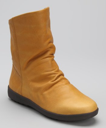 Golden Tan Leather Vasco Boot - Women
