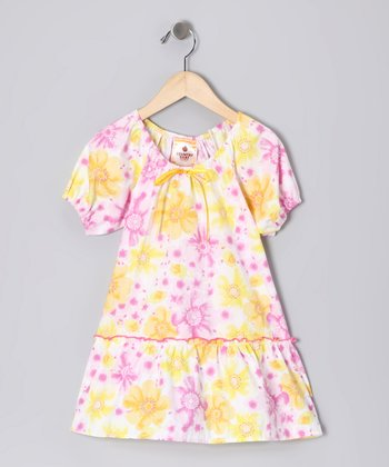Country Flower Peasant Dress - Infant