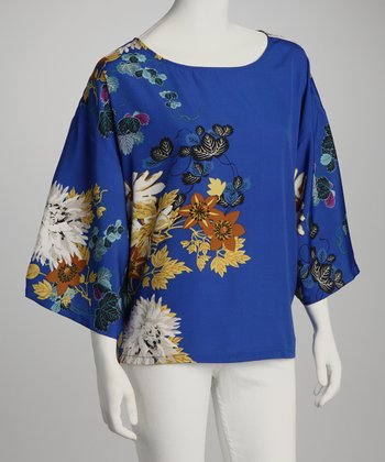 Cobalt Floral Top