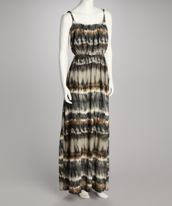 Stone Abstract Maxi Dress