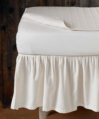Percale Organic Crib Skirt