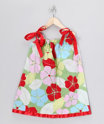Red Hawaiian Flower Swing Dress - Infant, Toddler & Girls