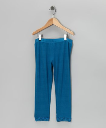 Blue Leggings - Infant, Toddler & Girls