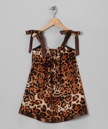 Brown Leopard Swing Dress - Infant, Toddler & Girls